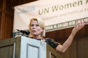Deputy Executive Director of UN WOMEN Asa Regner Held Her Lectur