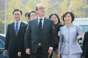 Francois Hollande, President of France visits Ewha