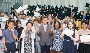 2018 Spring farewell ceremony international exchange & study abr